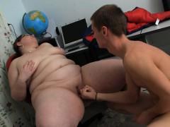 Big Belly Chubby Teacher Gets Doggy fucked