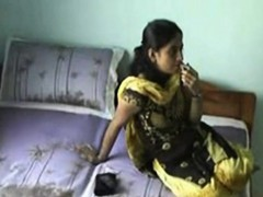 cute indian on webcam teasing