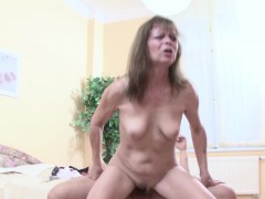 Step mom Help Step Son To Get His First Fuck