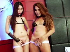 Horny Shemale Yuki In A Hot Threesome