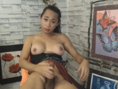 asian-busty-tranny-babe-suck-her-own-cock
