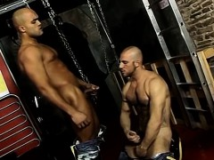 Handsome And Horny Yanier Is Taking A Piss When Nicos