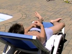 Horny Young Twink Jake Is Out In The Sun Topping Up His Tan