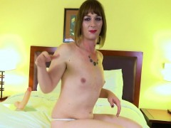 Solo Smalltits Trans Dildoing Her Ass