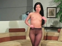 Wicked Nympho In Pantyhose Demonstrates Nice Aperture