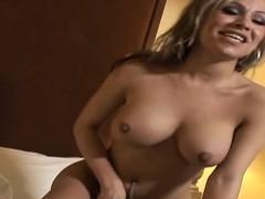 Latina Shemale Rides Cock