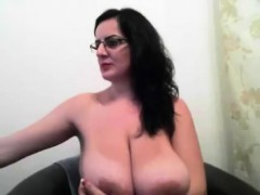 Beautiful Milf With Big Lactating Boobs