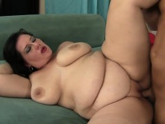 Fat Girl Is Fucked Silly By A Bald Bastard