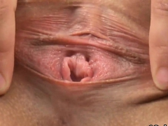 Elegant Cutie Is Gaping Narrow Cunt In Closeup And Climaxing