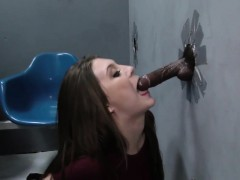 Gloryhole Teen Gives Head
