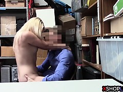 Kleptomaniac Teen Busted And Fucked By A Security Guard