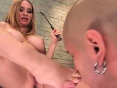 Bdsm Lady Strapping On Her Slave