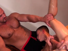 Massaged Twink Wanks Off His Hard Cock
