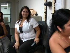 Chicks Are Engulfing Stripper's Shlong Wildly
