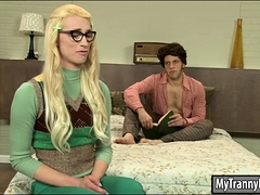 Nerdy Blond Ts Holly Parker Anal Banged In Many Positions