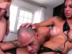 Trans Duo Assfucking During Threesome