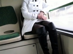 best-mom-flashing-on-bus-boots-stockings-see-pt2-at-goddess