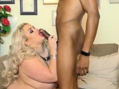 Sexy British Uk Babe Saskia Swallows Big Black Cock