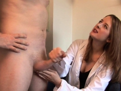 Beautiful Cfnm Doctor Tugging Patients Cock