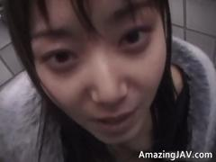 Asian Babe Sucking Cock In Public Toilet Part6