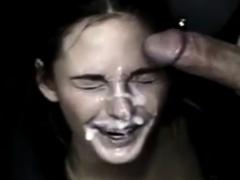 thick sperm facial compilation