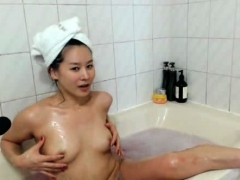 asian amateur kim takes a shower