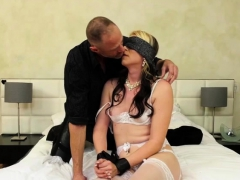 Blindfolded Tgirl Gets Her Juicy Ass Destroyed