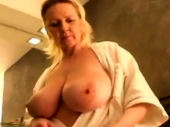 big-tits-mature-showering-and-drying-off