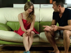 Fervent Teenie Stretches Slim Honey Pot And Gets Deflorated8