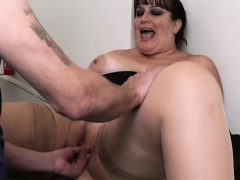 boss pounds huge tits secretary from behind