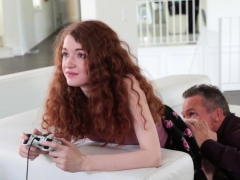 Ginger Teen Gets Caught Playing Videogames