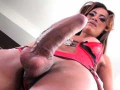 Ebony Tgirl With Big Cock