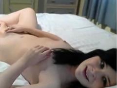 Masturbating Young Brunette