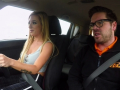 fake driving school monster tits learner ends lesson with anal