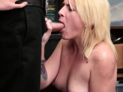 Blonde Shoplifter Fucked Hard By Officer