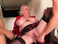 nasty old granny spreads legs for two dicks granny sex movies
