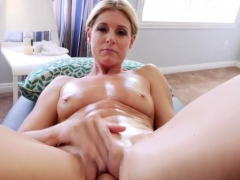 Stuffing my sexy blonde MILF stepmom like a turkey