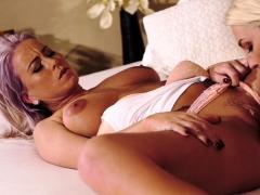 Lesbea Freckled and blonde big natural tits