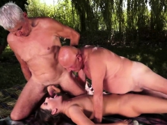 Mature Men Make Babe Swallow Cum