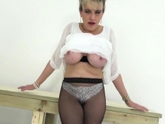 Unfaithful British Mature Lady Sonia Displays Her Large Melo