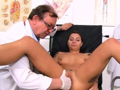 natural-tits-doctor-gaping-and-cumshot