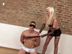 Facesitting Femdom Flogging Blindfolded Slave