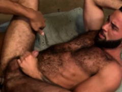 Hairy Hunk Sucks Cock And Fucks