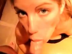svensk blondin suger like a pro
