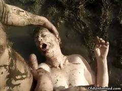 Mature Housewife Covered With Mud Part3