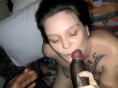 Chewing On A Big Black Cock