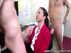 Secretaries Give Handjobs And Blowjobs