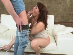 Redheaded Granny Blows Porn Video