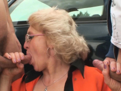 two-buddy-fuck-sexy-blonde-granma-outdoors