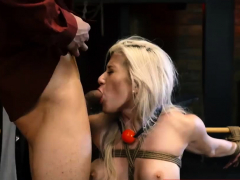 extreme dick milking machine big-breasted platinum-blonde